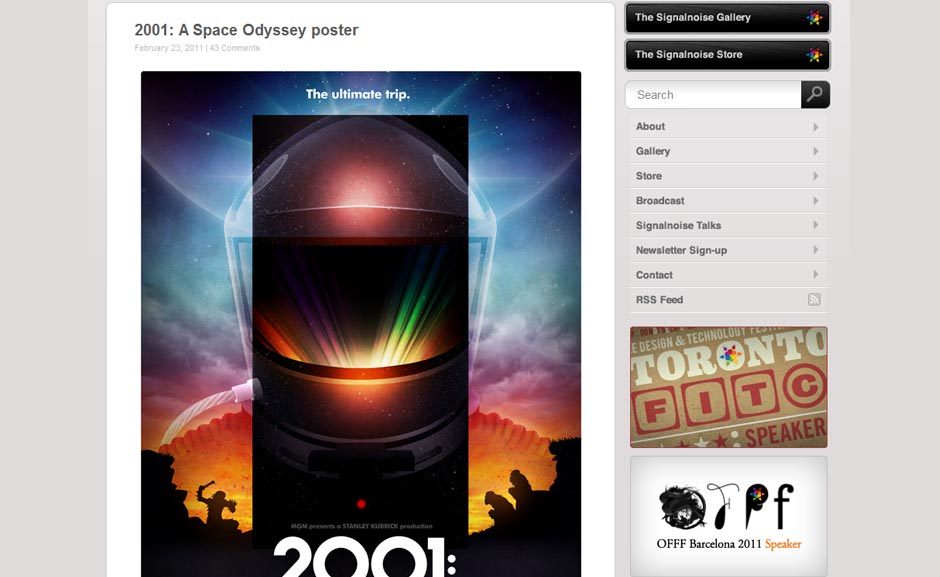 Inspiration: 2001: A Space Odyssey Poster