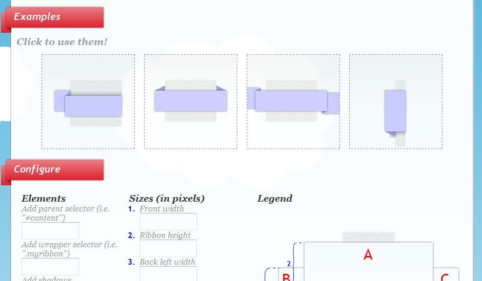 Tool: CSS Ribbon Generator