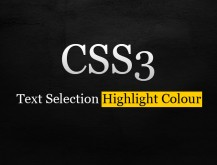 CSS3 Selection Colour