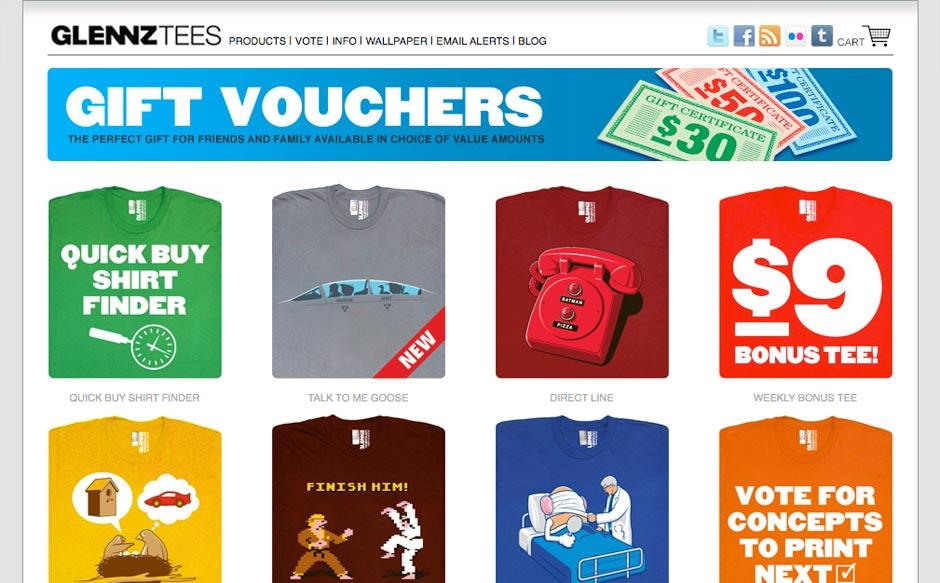 10 Cool T-Shirt Websites | Oakes Design | Web Design, Development ...