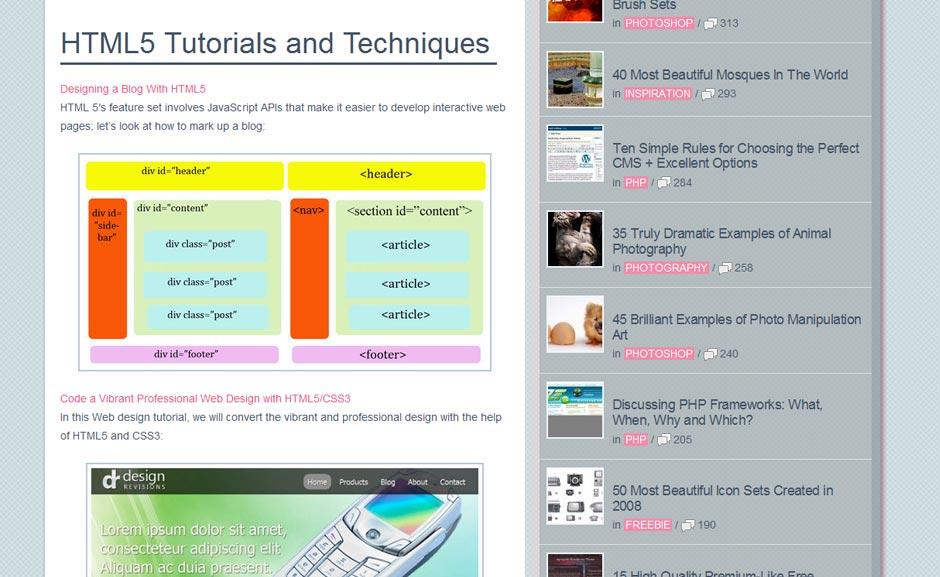 Tutorial: HTML5 Tutorials and Techniques