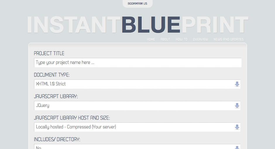 Instant Blue Print