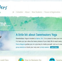 Sweetwaters Yoga Website