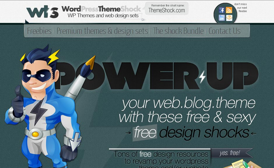 Freebies: Wordpress Theme Shock